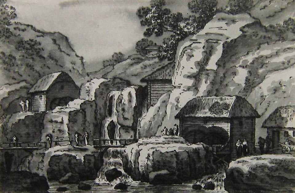 Каскады и мельницы в Буках, худ. Мюнц (1781-1784 гг.)