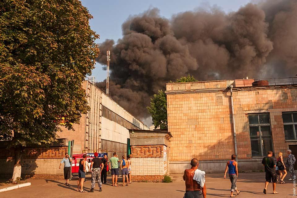 Пожар в Черкассах