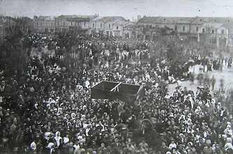 Митинг жителей г. Черкассы в день празднования 1-го мая. 1917 г.