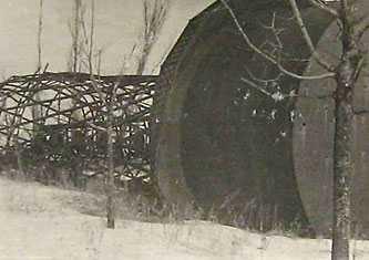 Водонапорная башня разрушенная немецкими оккупантами при отступлении. г. Черкассы 1945 г.