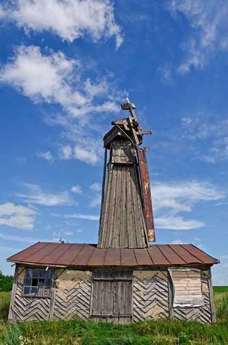 Модерный ветряк середины XX века по проекту В. Стрельца в селе Грищинцы