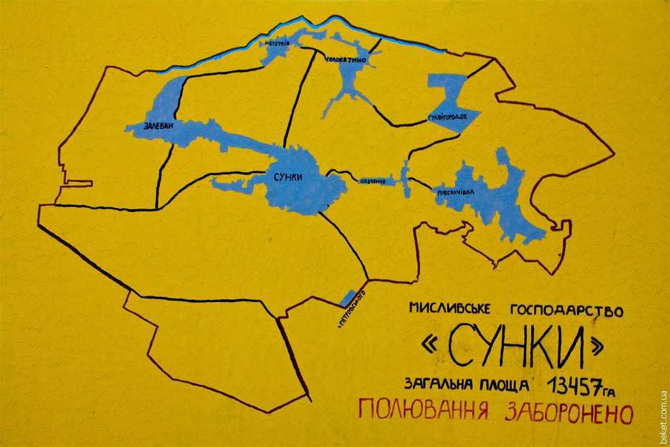 Карта охотничьего хозяйства «Сунки»