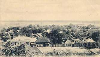 Исторические фотографии Черкасс. Вид набережной с бульвара