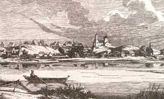 Старые Черкассы на гравюре Логвина