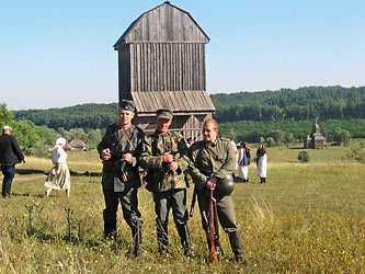Реконструкция исторических сражений в селе Стецовка