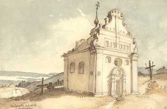 Богдановая церковь в Суботове. Акварель. IV — X 1845. Т.Г. Шевченко