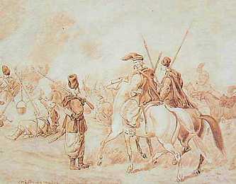 «Лагерь Гайдамаков». Юлиуш Кооссак, 60-е г. XIX ст.