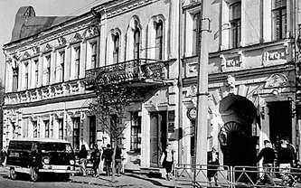 Улица Октябрьская в городе Умань