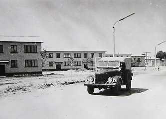 Внешний вид новой улицы Днепростроевцев в Каневе 1964 г.