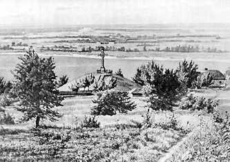 Могила Тараса Шевченко, рисунок 1898 г.