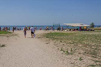 Пляж в Красном