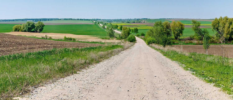 Дорога в село Крутые Горбы