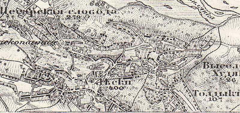 Леськи на трехверстовой карте Шуберта