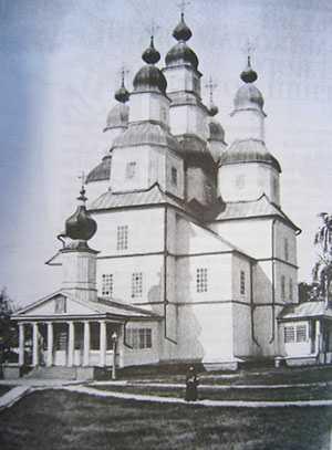 Разрушенный Михайловский собор Медведовского монастыря
