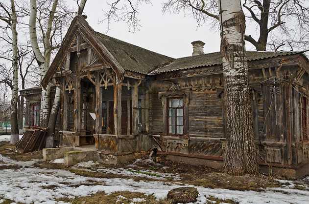 Деревянный домик Городецкого в Мошнах