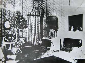 Жилая комната дворца в Мошногорах. Старинные фотографии села Мошны