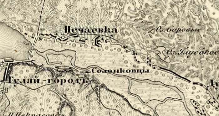 Нечаевка на трехверстовой карте Шуберта