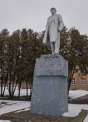 Памятник Ленину в селе Песчаное
