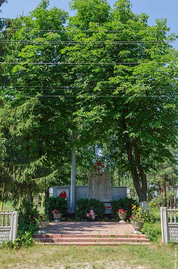Памятник погибшим воинам-односельчанам на фронтах второй мировой войны