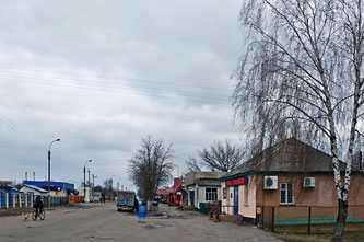 Центр села Сагуновка