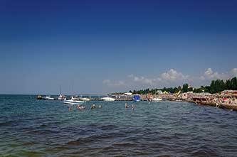 Центральный пляж в Скадовске