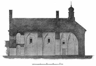 Разрез Ильинской церкви