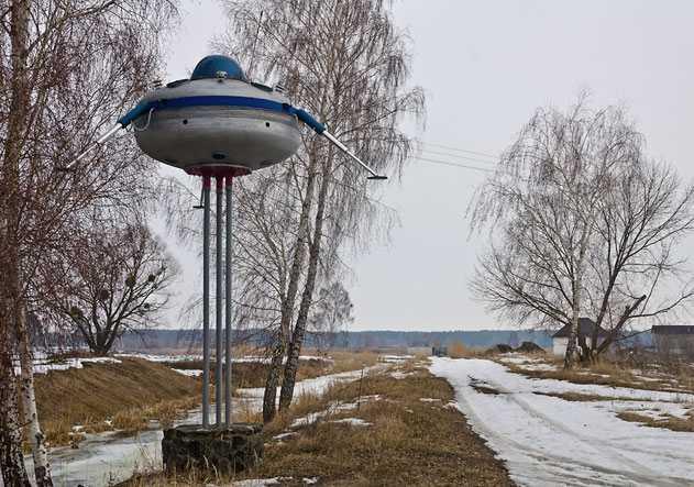 Памятник НЛО в селе Свидивок