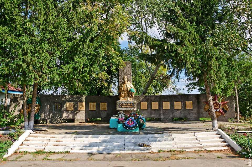 Памятник погибшим воинам в селе Тубольцы