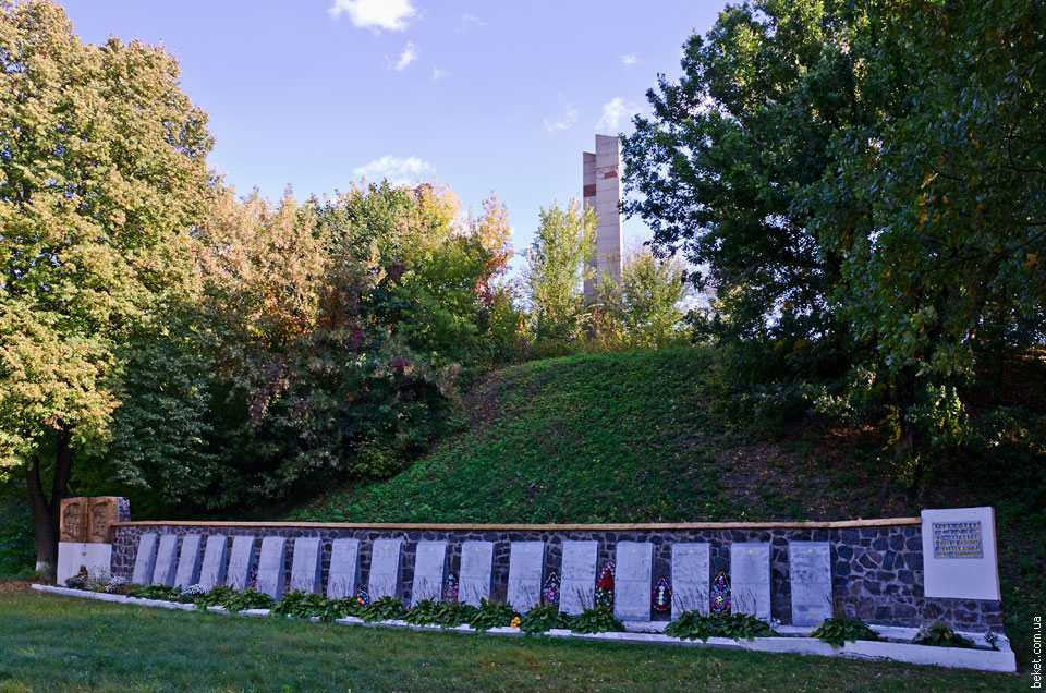 Братская могила воинов-освободителей в смт Ольшана