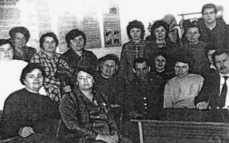 Педагогический коллектив Вязовской школы. 1990 г.