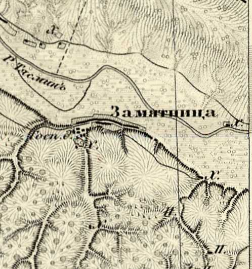 Замятница на трехверстовой карте Шуберта