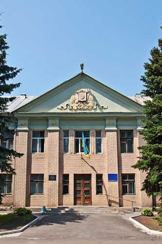 Здание городского совета в Золотоноше