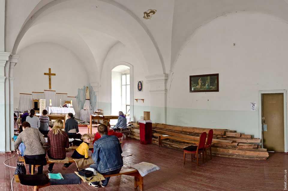 Интерьер костела в Звенигородке
