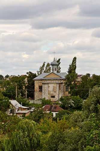 «Вид на Католический костел в Звенигородке