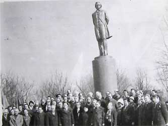 Открытие памятника Т.Г. Шевченко в Звенигородке 1981 г.